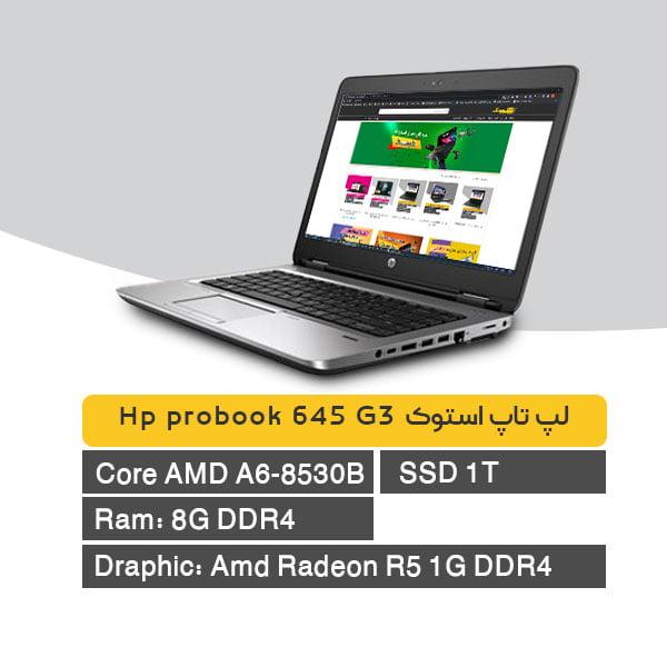 laptop Hp probook 645 G3 stock